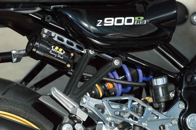 画像: リヤショックはハイパープロ製で、車高調整機能も持たせている。
