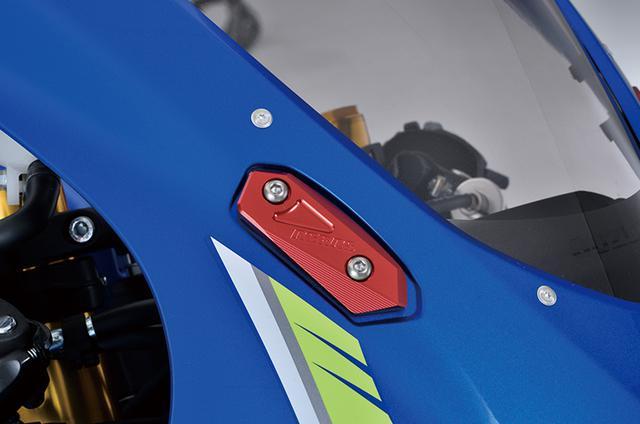 画像: 「ミラーキャンセラー」はサーキット走行やミラー移設の際に純正ミラーを取り外したベース部をカバーしてくれるパーツだ。