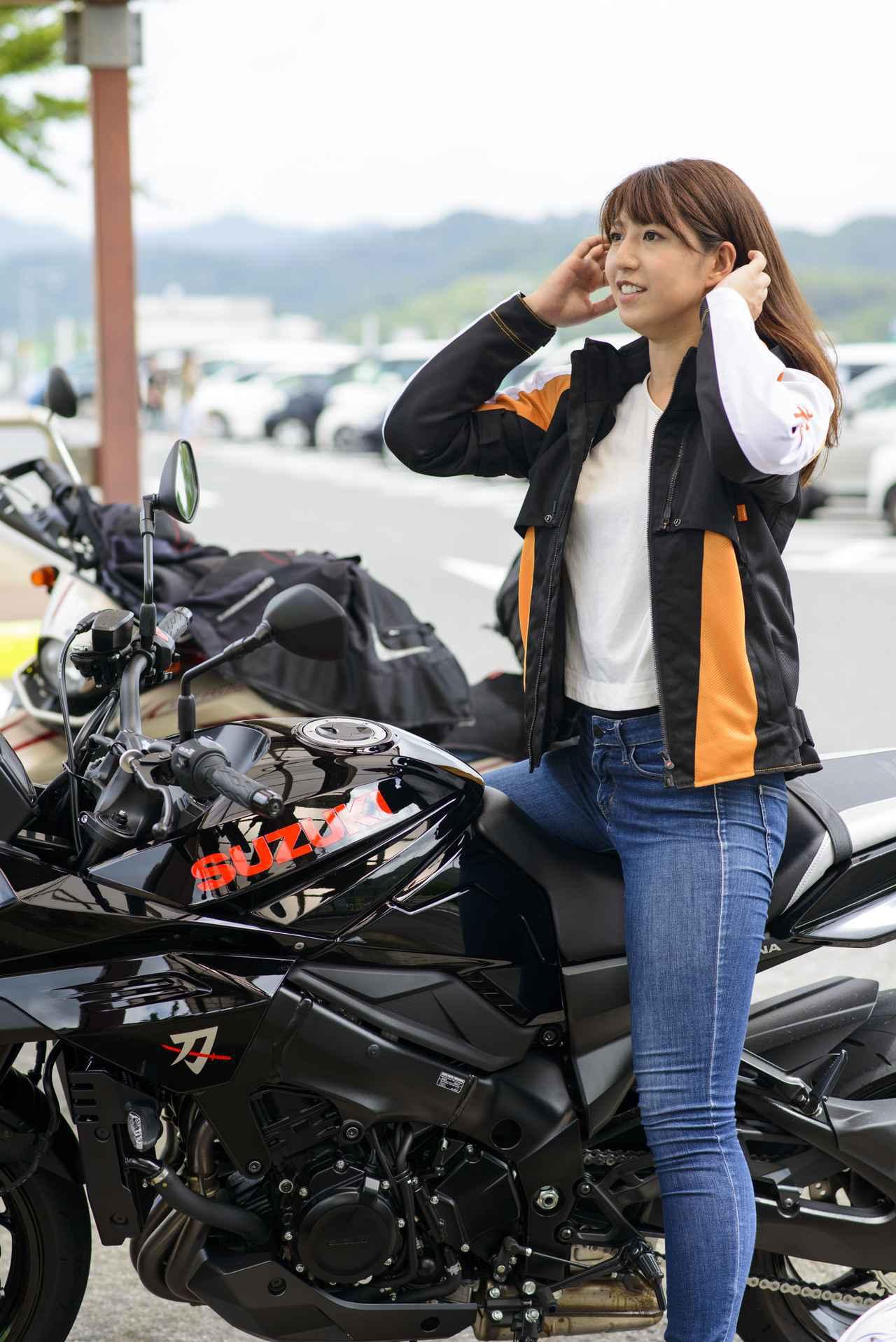 画像: 大関さおり × スズキ「KATANA」【オートバイ女子部のフォトアルバム】 - webオートバイ