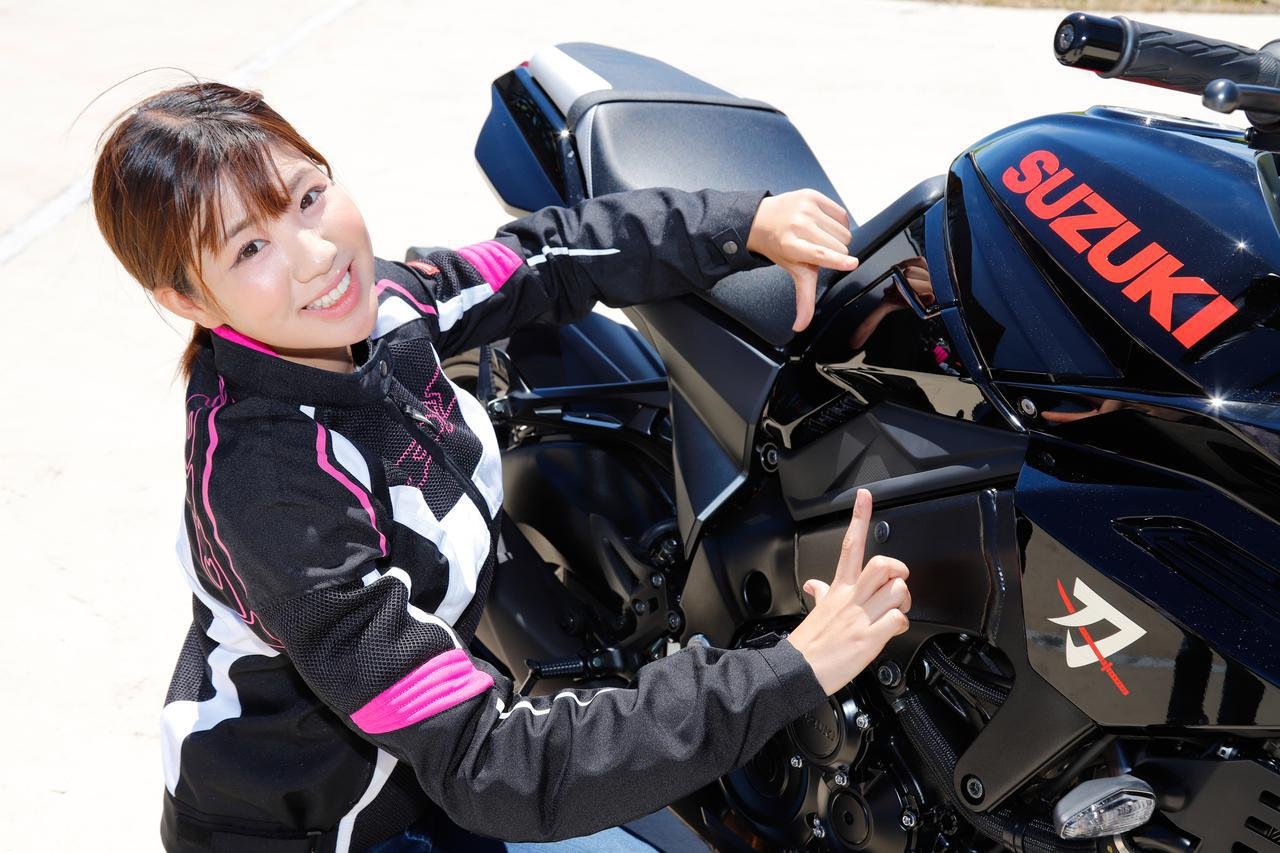 画像6: 梅本まどか × スズキ「KATANA」 足つき性もチェック!【オートバイ女子部のフォトアルバム】