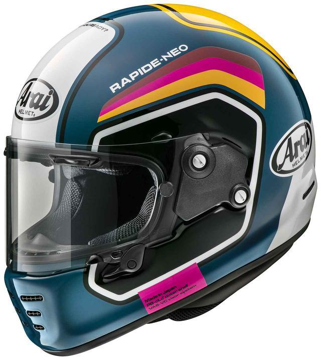 画像: アライのネオクラシックフルフェイス〈ラパイドNEO〉に往年のレースシーンを彷彿させるグラフィック「ナンバー」が登場 - webオートバイ