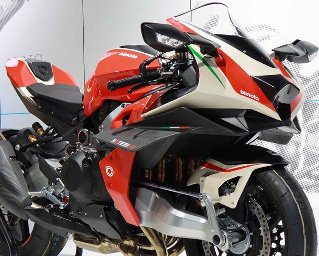 画像: 日本初公開! ビモータ×カワサキの「テージH2」が再オープンしたカワサキワールドで展示中! - webオートバイ