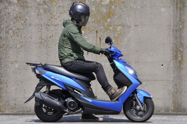 画像1: いまイチオシの原付二種125cc通勤スクーター【スズキ編】コンパクトなボディにこだわりが凝縮された「スウィッシュ」