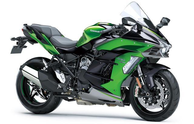 画像: Kawasaki Ninja H2 SX SE+ (2020年モデル) 税込価格:282万2700円 総排気量:998cc 「SE+」は、Ninja H2 SX SEの装備に加え、KECS(電子制御サスペンション)をはじめフロントブレーキにブレンボ社製の「Stylema」を装備するなど、シリーズの中でもっとも進化を遂げたモデルとなる。