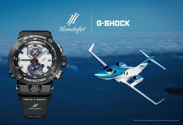 画像1: 各部に「HondaJet」の要素を盛り込んだアナログタイプのG-SHOCK