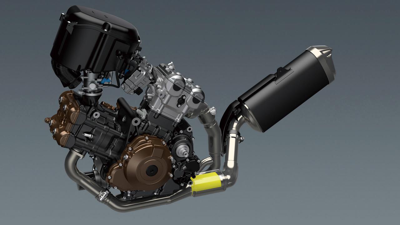 画像: 電子制御スロットルと組み合わされるエンジンは106PS。カムプロフィールやピストンの表面処理など、細かい部分も見直された。