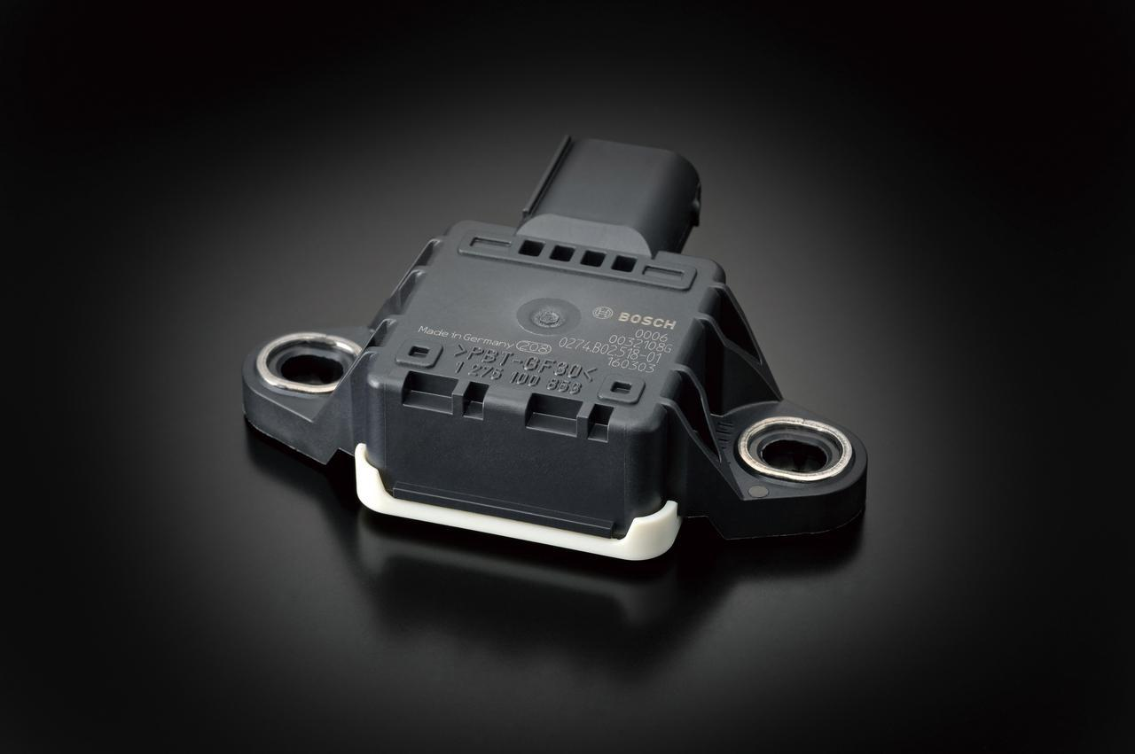 画像: ボッシュ製の6軸IMU(慣性計測ユニット)を採用。ピッチ、ロール、ヨーの3軸の角速度センサーと3軸加速度センサーを装備。