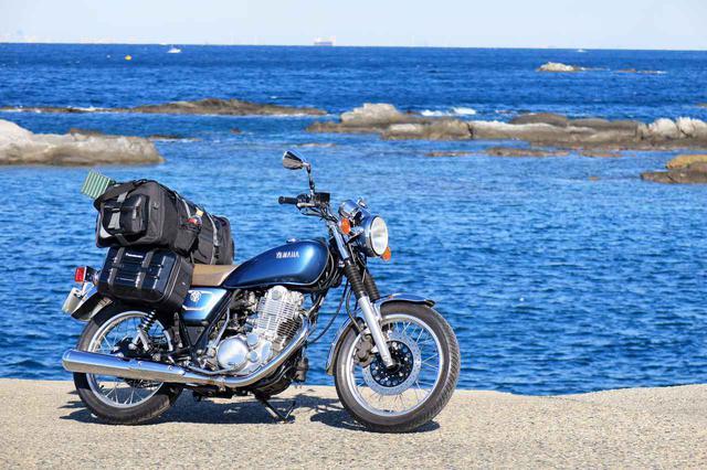 画像: 装着車両:ヤマハ「SR400」 ※タナックスのサイドバッグ「ツアーシェルケース2」も合わせて装着しています。