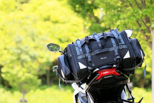 画像: MFK-102 キャンピングシートバッグ2/装着車両:スズキ「KATANA」