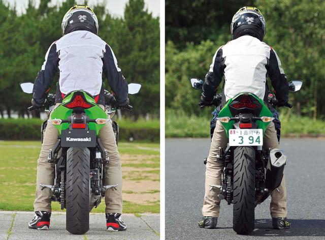画像: (左)Ninja ZX-25R|(右)Ninja 250