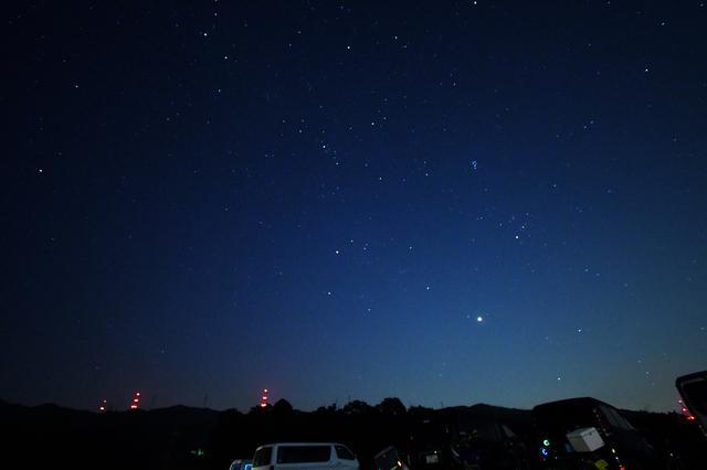 画像: なんかやたらと星がたくさん見えた。夜は25度程度と涼しい(昼は暑い)。