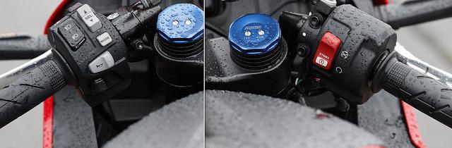 画像: 大きく変わっていたのはスイッチまわり 特に左スイッチに、従来モデルになかったものが!