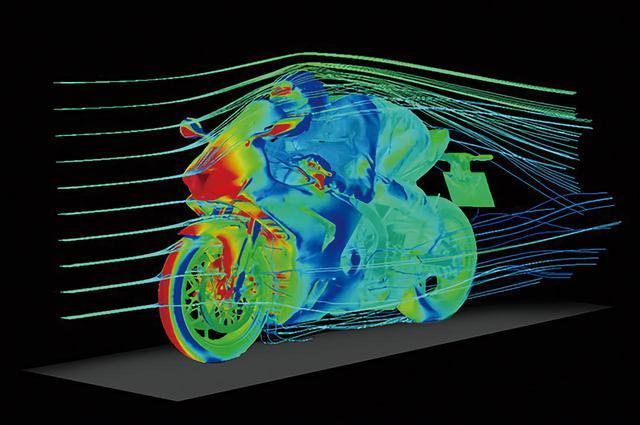 画像: 走行時の空力をシミュレーションした模式図。ストックレーサー状態でのCD値はクラス最小の0.270を実現している。