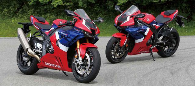 画像: (左) CBR1000RR-R FIREBLADE SP 税込価格:278万3000円 (右) CBR1000RR-R FIREBLADE 税込価格:242万円