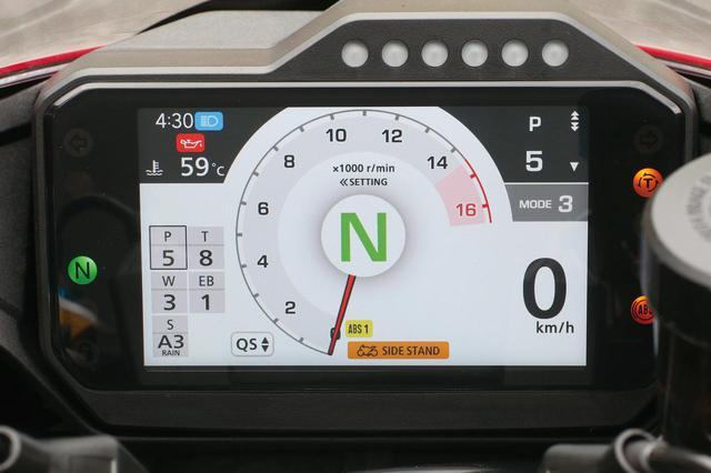 画像: パワーは最弱、トルクコントロールとエンジンブレーキは介入を最強として、より安全・確実な移動を目的としたセッティング。