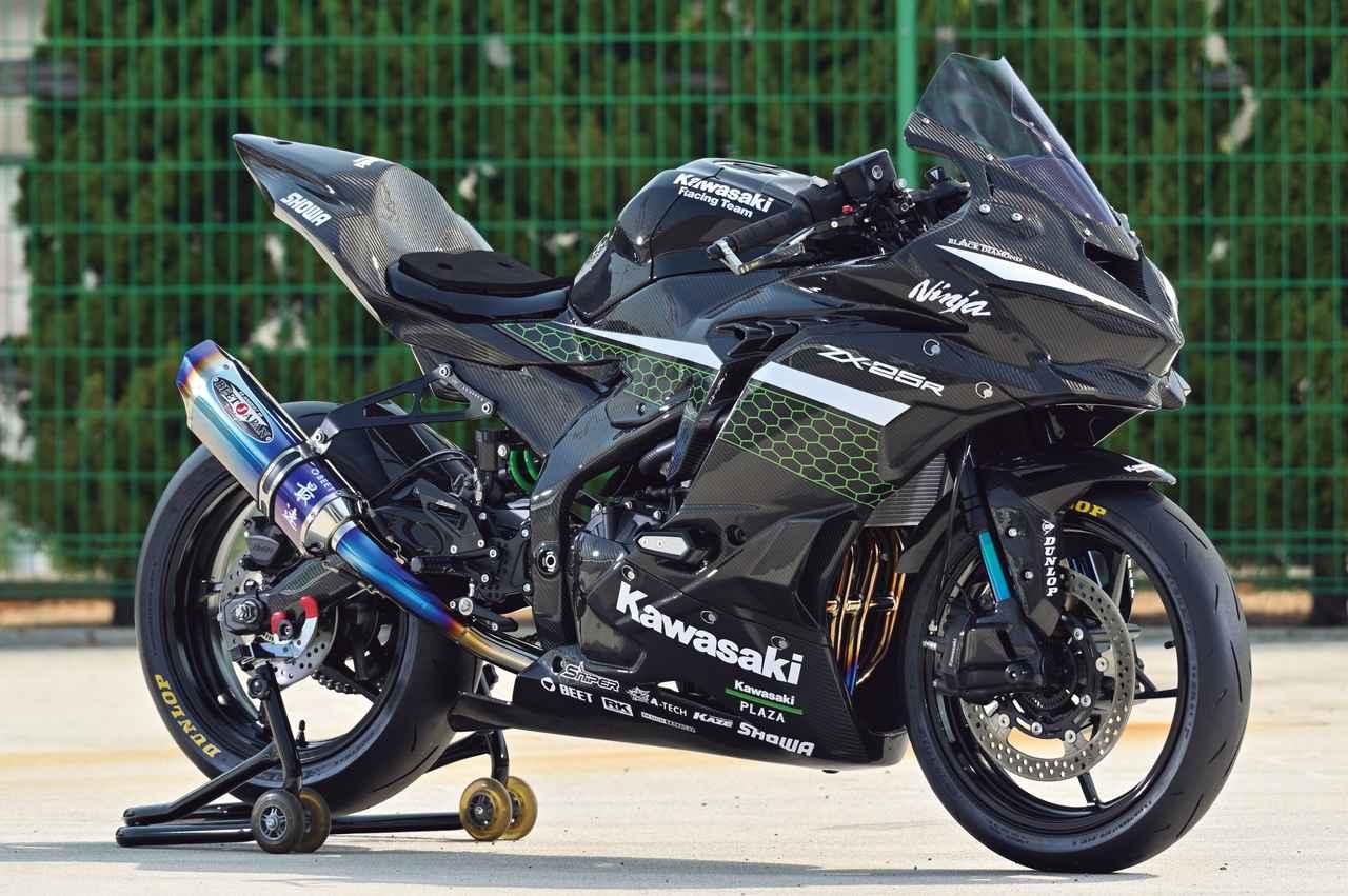 Images : 1番目の画像 - Kawasaki Ninja ZX-25R レースイメージカスタム車 - webオートバイ