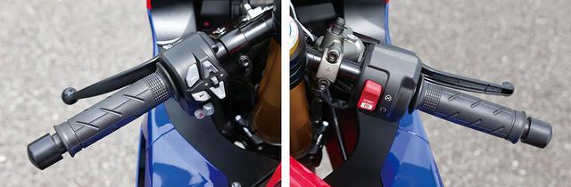 画像: 今回は左右のスイッチボックスを新作。各種モードの選択、設定用に、左側中央には十字レイアウトのボタンが配されている。