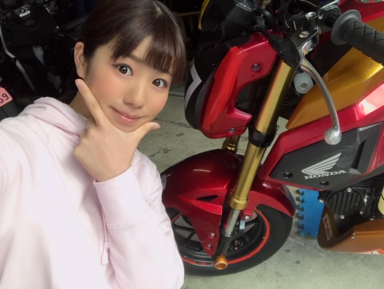 """画像: """"オートバイ女子部グロム""""のエンジンオイル交換担当、梅本まどかです! - webオートバイ"""