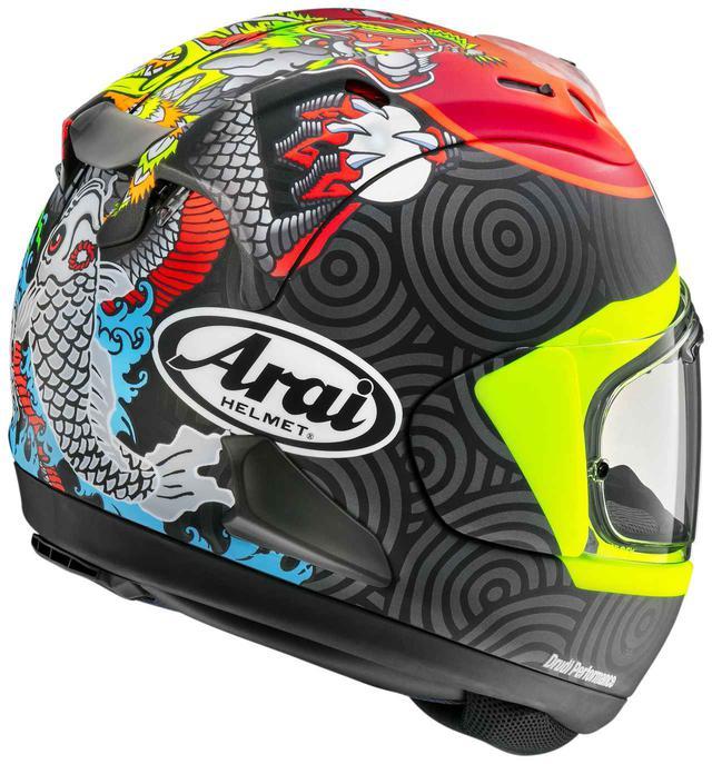 画像1: Moto3で活躍する鈴木竜生選手のレプリカヘルメット! アライが「RX-7X・タツキ」を発表