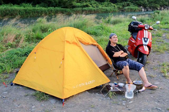 画像2: プジョーのジャンゴでキャンプ!