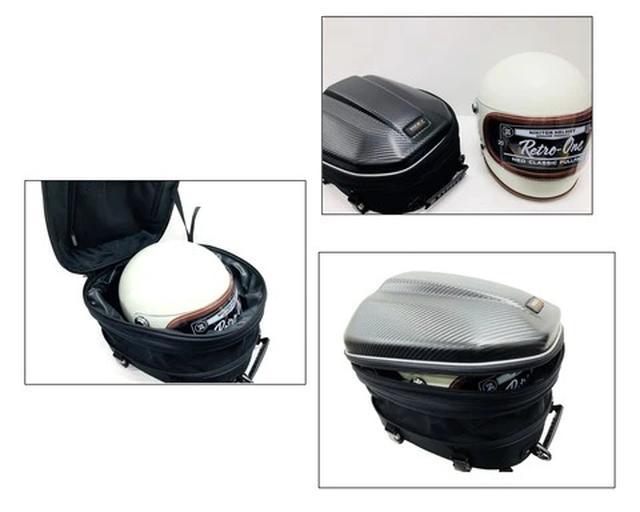 画像3: シートバッグだけどリュックにもなる! しかもフルフェイスヘルメットが入る! ひとつで何役もこなす便利なライダー向けバッグ