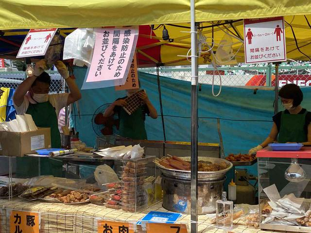 画像: 場内の売店も感染防止のため、工夫がされていました。