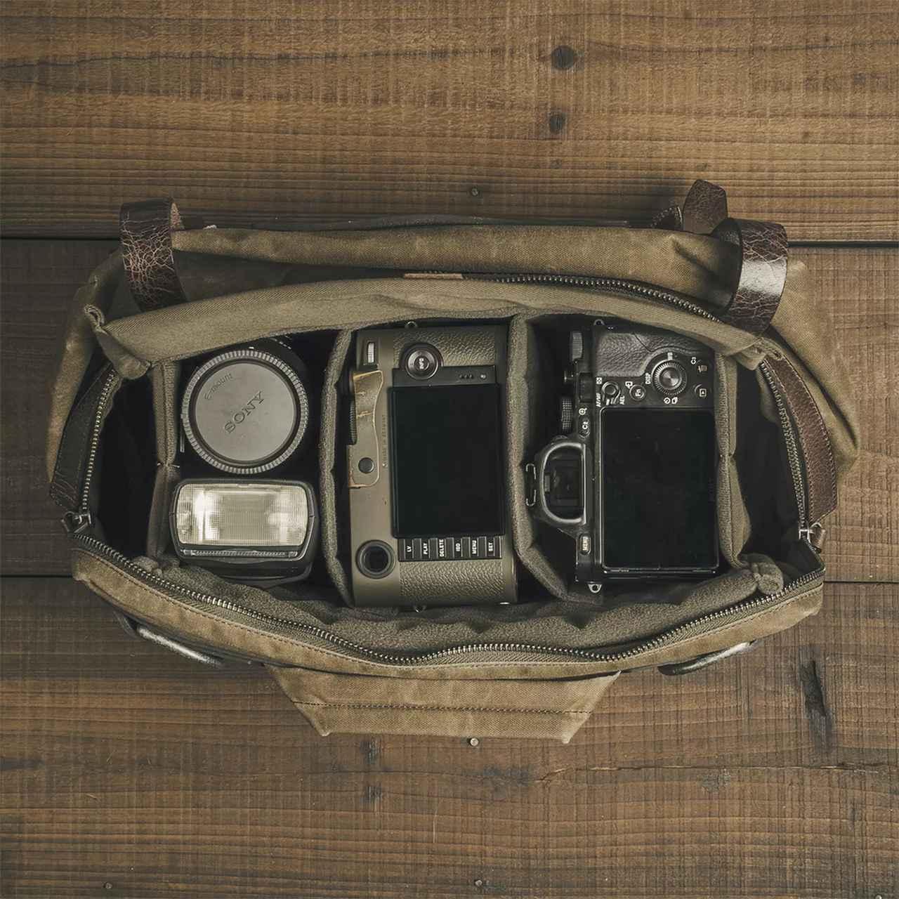 画像: ▲収納例。使用状況に応じてバッグを折りたたむことができる。