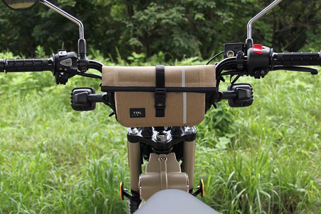 画像4: ハンドルに固定できる便利な防水バッグがTTPLから新登場! ハンターカブにもジャストフィット!