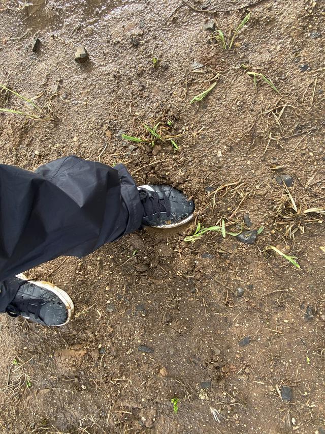画像: 靴が埋もれていきそうでした。