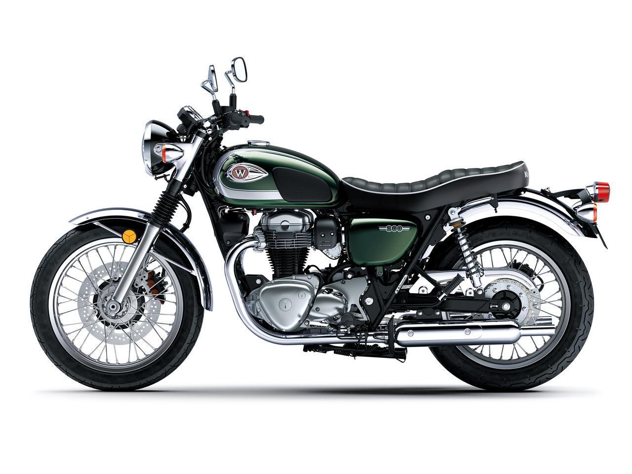 画像5: カワサキが「W800」シリーズの2021年モデルを発売! W800/W800ストリート/W800カフェの新色をチェック!