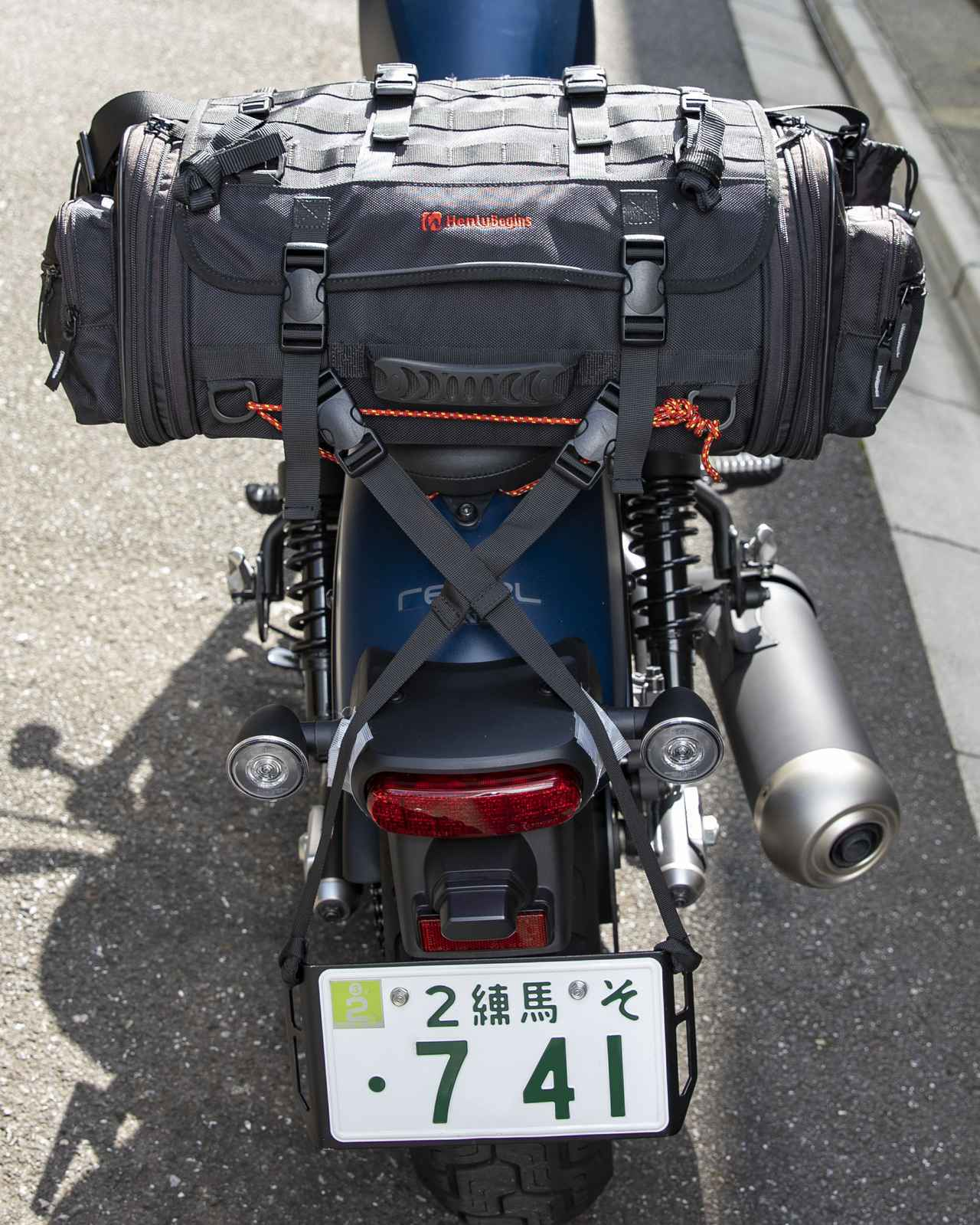 画像1: レブル250にシートバッグを積む!