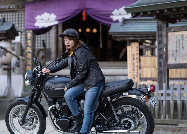 画像: 平嶋夏海×KAWASAKI W800 STREET【オートバイ女子部のフォトアルバム】 - webオートバイ