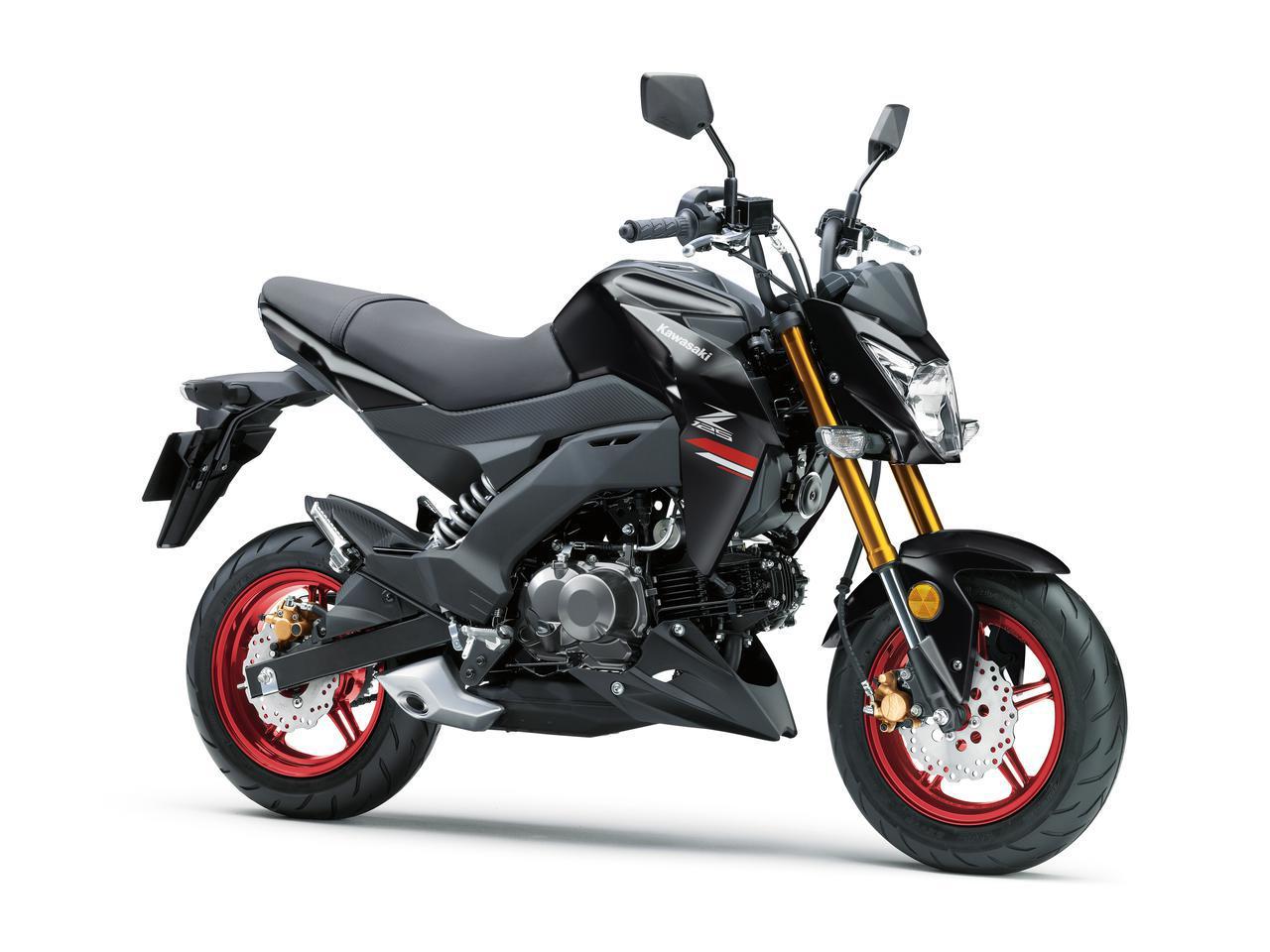 画像: Kawasaki Z125 PRO 2021年モデル/カラー:メタリックフラットスパークブラック 総排気量:124cc エンジン形式:空冷4ストSOHC2バルブ単気筒 メーカー希望小売価格:35万2000円