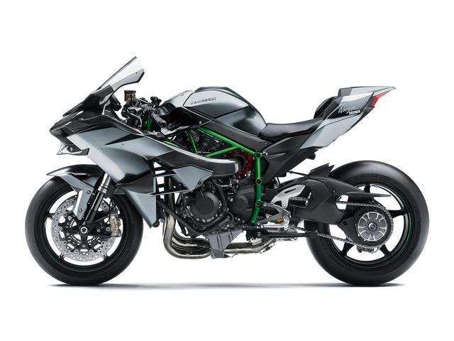 画像: スーパーチャージドエンジンを搭載したレース車両「Ninja H2R」