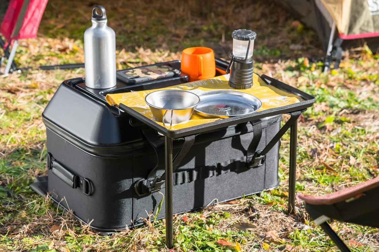 画像: よりいっそうキャンプに本気! ツーリングバッグの老舗タナックスが「キャンプテーブルシートバッグ」を発表 - webオートバイ