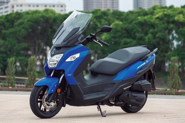 画像: SYM JOYMAX Z250 総排気量:249.4cc エンジン形式:水冷4ストSOHC2バルブ単気筒 メーカー希望小売価格:税込49万5000円