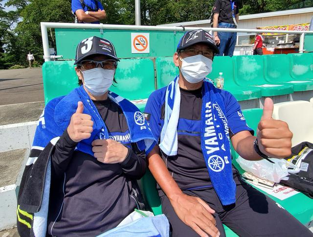 画像: 「ヤマハ内で争って、中須賀選手はV10を、野左根選手はNewチャンピオンを期待しています!がんばれYAMAHA!」