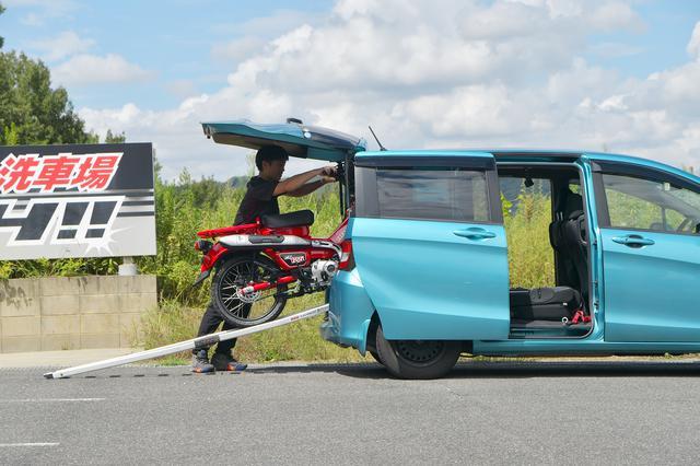 画像1: 自前のフリードスパイク(絶版車)だとこんな感じ。