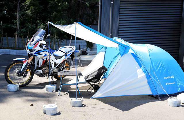 画像: 販売されるテントは、もともとツーリングライダーに人気があったモンベル「クロノスキャビン」。