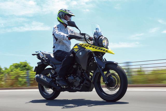 画像: SUZUKI V-STROM250 ABS エンジン形式:水冷4ストSOHC4バルブ並列2気筒/248cc 最高出力:18kW(24PS)/8000rpm 最大トルク:22N・m(2.2kgf・m)/6500rpm シート高:800mm 車両重量:189kg メーカー希望小売価格:税込61万3800円