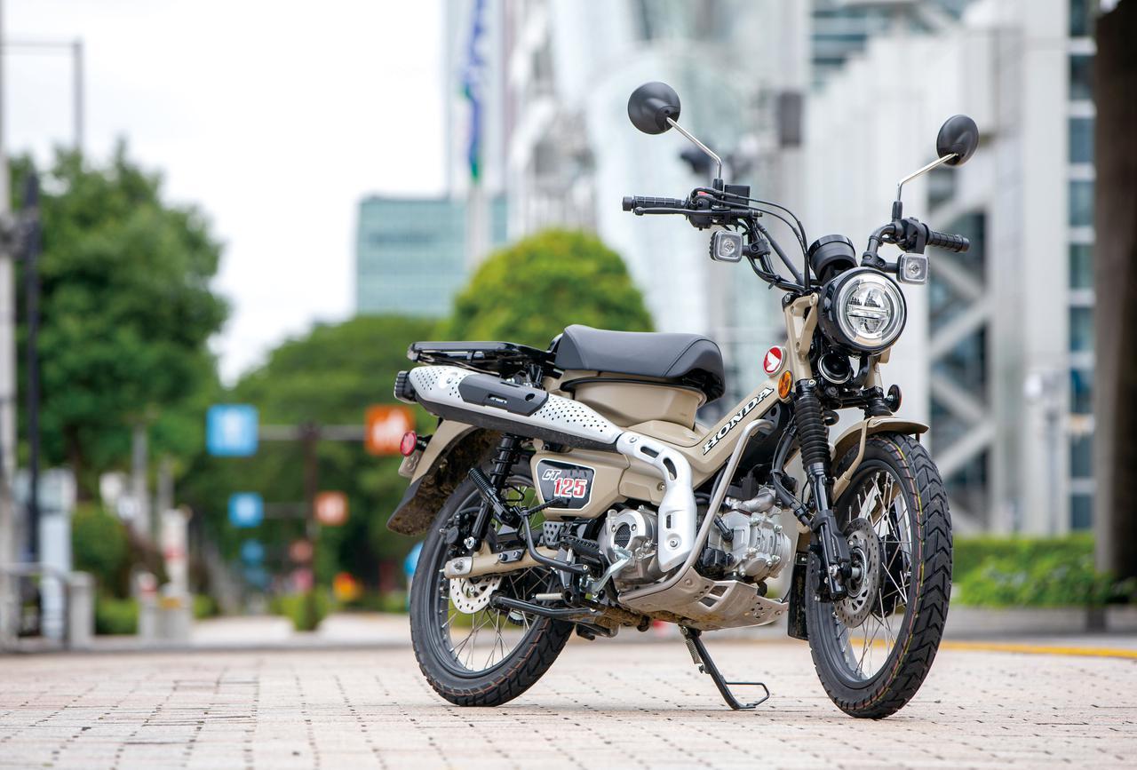 画像: Honda CT125 HUNTER CUB 総排気量:124cc エンジン形式:空冷4ストSOHC単気筒 最高出力:6.5kW(8.8PS)/7000rpm 最大トルク:11N・m(1.1kgf・m)/4500rpm シート高:800mm 発売日:2020年6月26日 メーカー希望小売価格:税込44万円