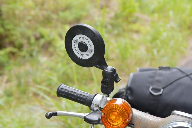 画像: 車載のときに衝動買いしたダブルテイクのスクランブラーミラー、なんだけどアームを手元にあったショートにしてみました。