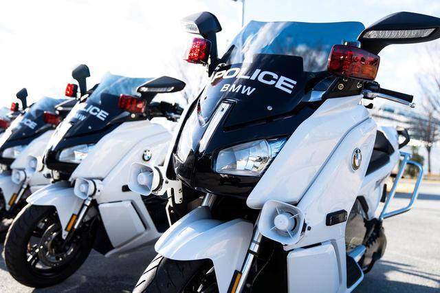 画像: 初の電動白バイ! 初の輸入車の警察車両! BMWが「C evolution」を警視庁に納入 - webオートバイ
