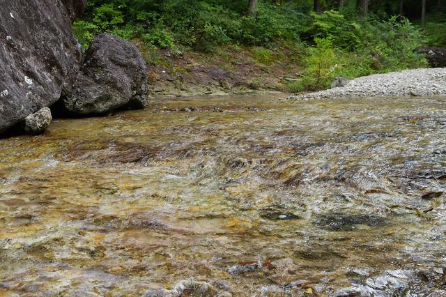 画像: 川底が大きな一枚岩っぽい。