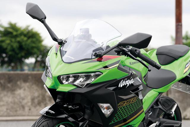 画像: 兄弟モデルと共通イメージのデザイン。ヘッドライトはLEDでロー/ハイ/ポジションを2灯ずつ装備する。