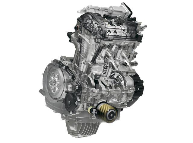 画像: 専用設計の水冷ツインDOHC4バルブエンジン。パワーモードは3段階切り替え式で、高回転域の吹け上がりは最強レベル!