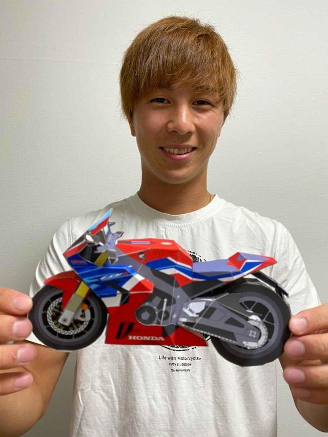 画像: ST1000クラス参戦中の名越哲平 選手、ペーパークラフト完成しました! #紙CBR1000RRR - webオートバイ