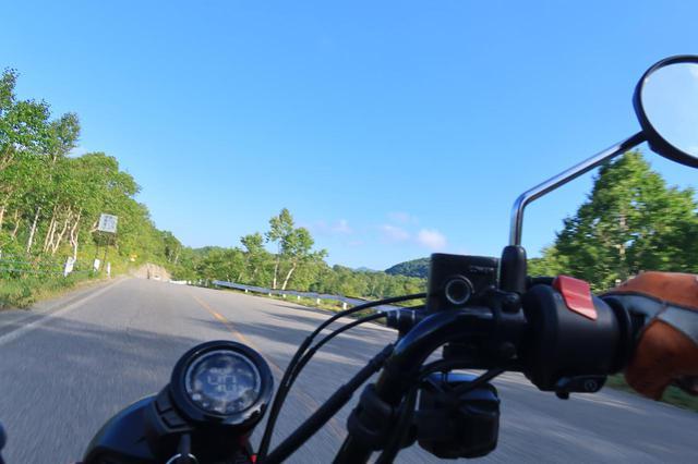 画像: 長野県側は晴れている。