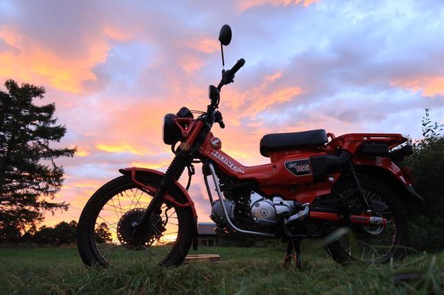 画像: 2日目は夕焼けが見られた。