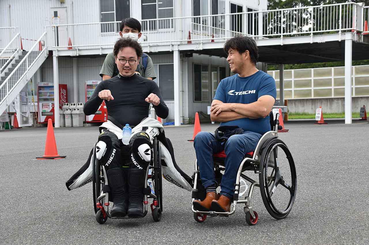 画像: 今回初参加の渡邉さん。事故からわずか1年ということで、本人もライダー復帰はそう難しいことではないだろうと思っていた様子。しかし、これがなかなか大変であった。